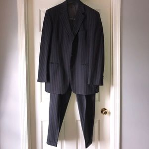 Charcoal and Purple pinstriped Hugo Boss Suit